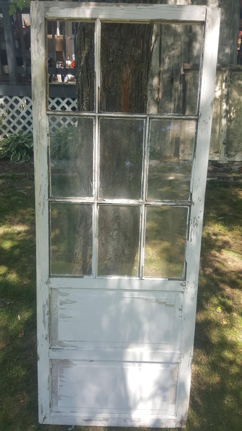 Old Wood Window Door Nine Pane Window Small Door Antique   Etsy