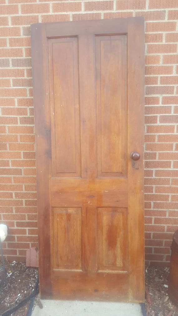 Old Solid Wood Door Antique Interior Door Building Supply Etsy