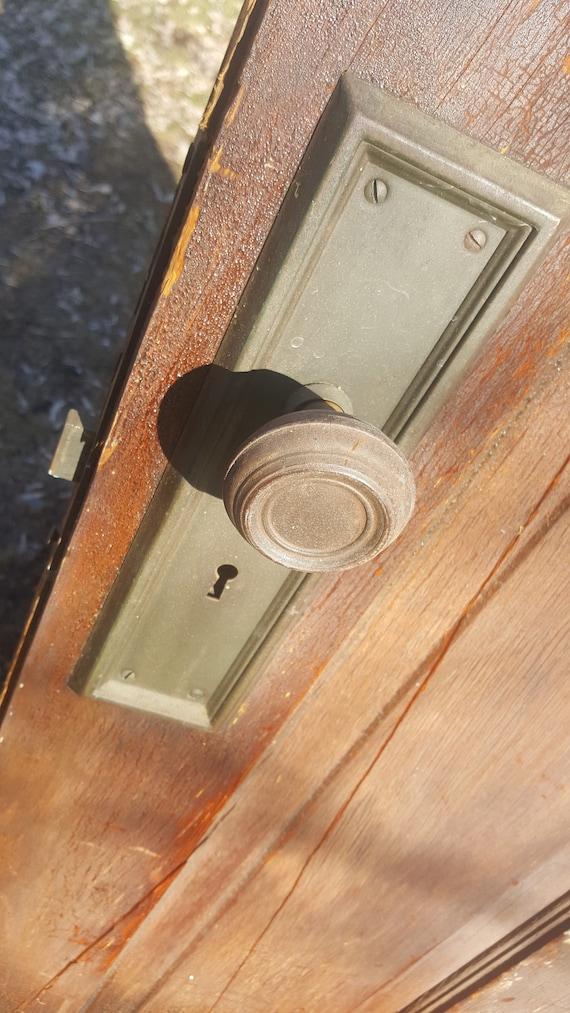 Antique Craftsman Old Wooden Door Exterior Front Door Two Etsy