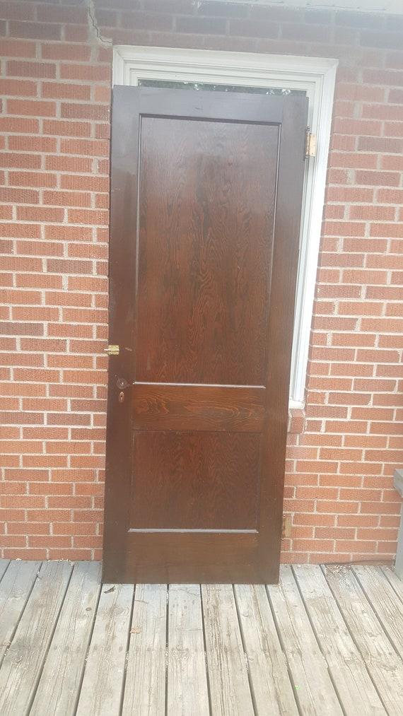 image 0 - Antique Wood Door Old Wooden Recessed Panel Door Building Etsy