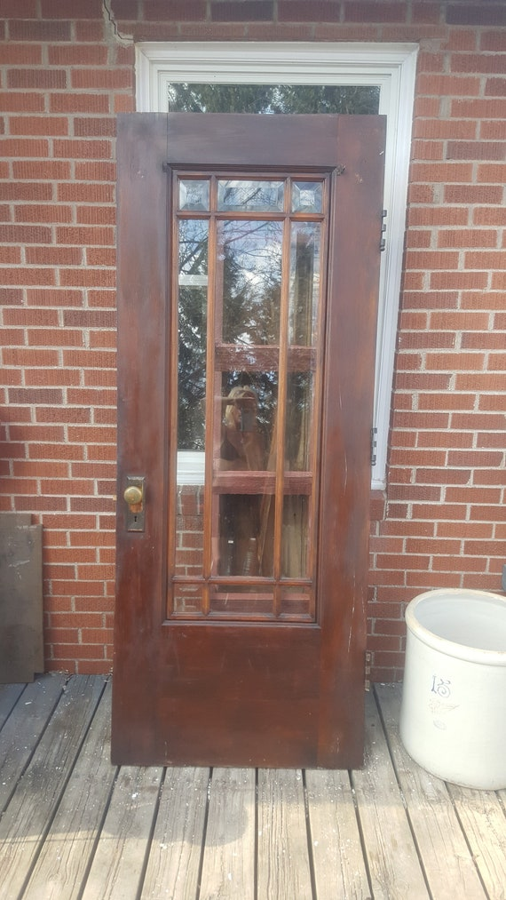 Old Wood Window Exterior Door Farmhouse Salvage Craftsman Etsy