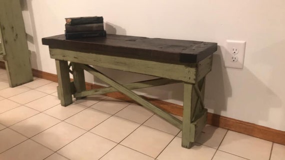 Prime Distressed Farmhouse Barnwood Bench Wood Rustic Furniture Primitive Sage Green Walnut Stain Entryway X 1 1 2 Boards Ship Lap Benches Ibusinesslaw Wood Chair Design Ideas Ibusinesslaworg
