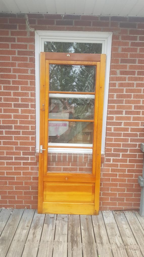image 0 - Antique Wood Screen Door Interchangeable Screen Door Etsy