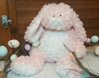 Godchild easter gift etsy ganz easter bunny pink and white plush stuffed animal soft and cushy negle Images