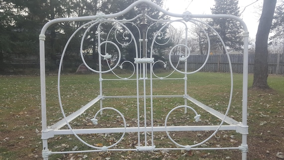 Antique Bed Frame Full Size Bed Frame Cast Iron Victorian Etsy