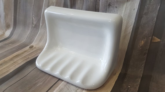 Antique Porcelain Soap Dish Wall Mount Vintage Bathroom Etsy