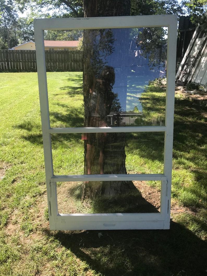 Ancien Cadre De Fenêtre En Bois Trois Volet Fenêtre Etsy