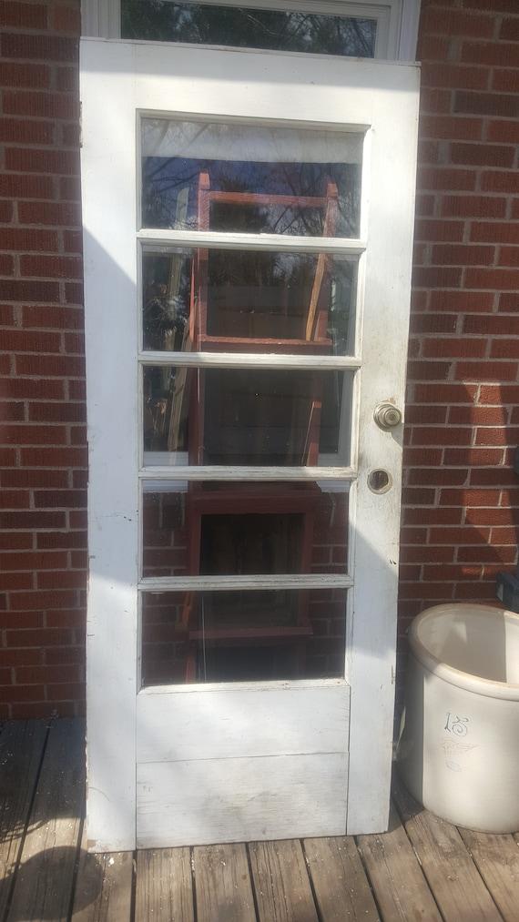 Vintage Old Wood Door Farmhouse Salvage Window Door Building Etsy