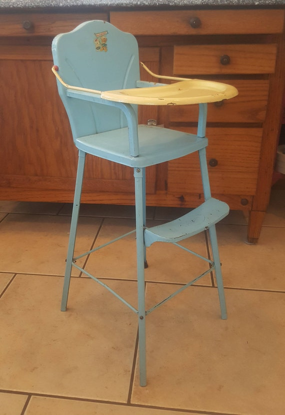 image 0 - Vintage Doll High Chair AMSCO High Chair Metal Doll Chair Etsy