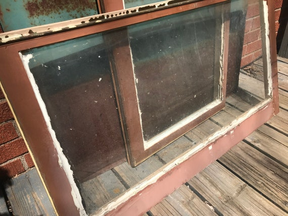 Shabby Chic...antique decor for restaurant or pub Vintage Farmhouse Window Sash