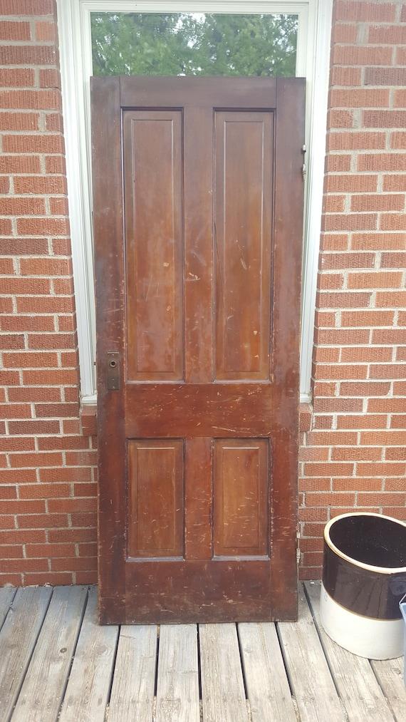Old Wood Interior Door Building Supply Architectural Etsy