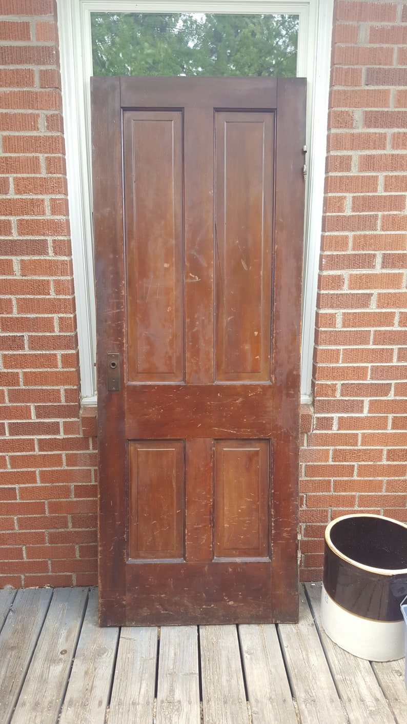 Old Wood Interior Door, Building Supply, Architectural Salvage, Farmhouse  Salvage, Recessed 4 Panel Door, Solid Wood Doors, 30