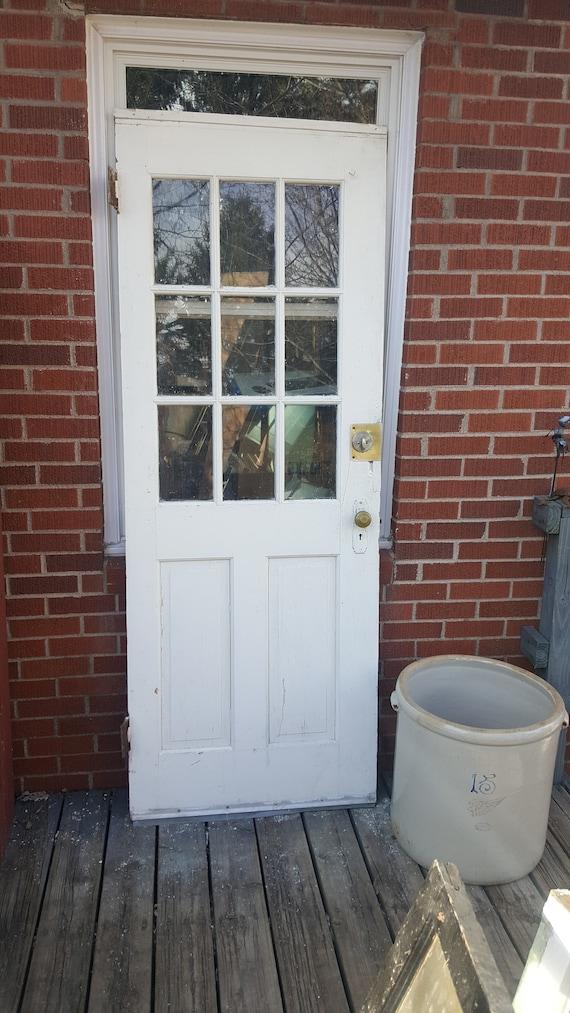 Antique Exterior Solid Wood Door Entry Front Door Window Etsy