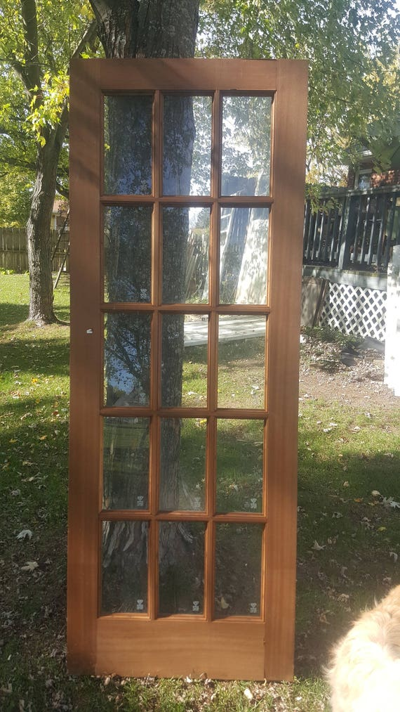 Antique Glass Lite French Doors Architectural Salvage 15 Pane Etsy