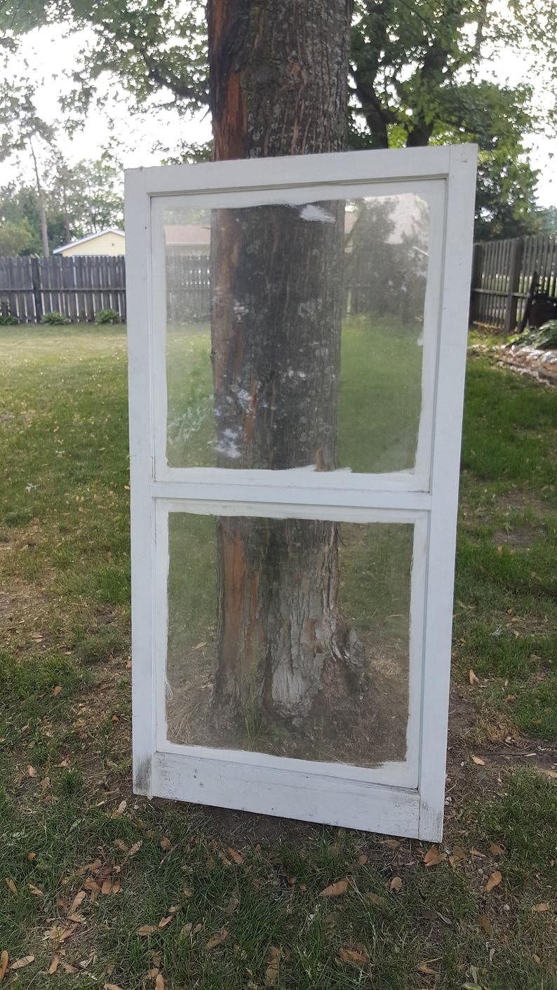 Vintage Ancien Cadre De Fenêtre En Bois Volet 2 Windows Etsy