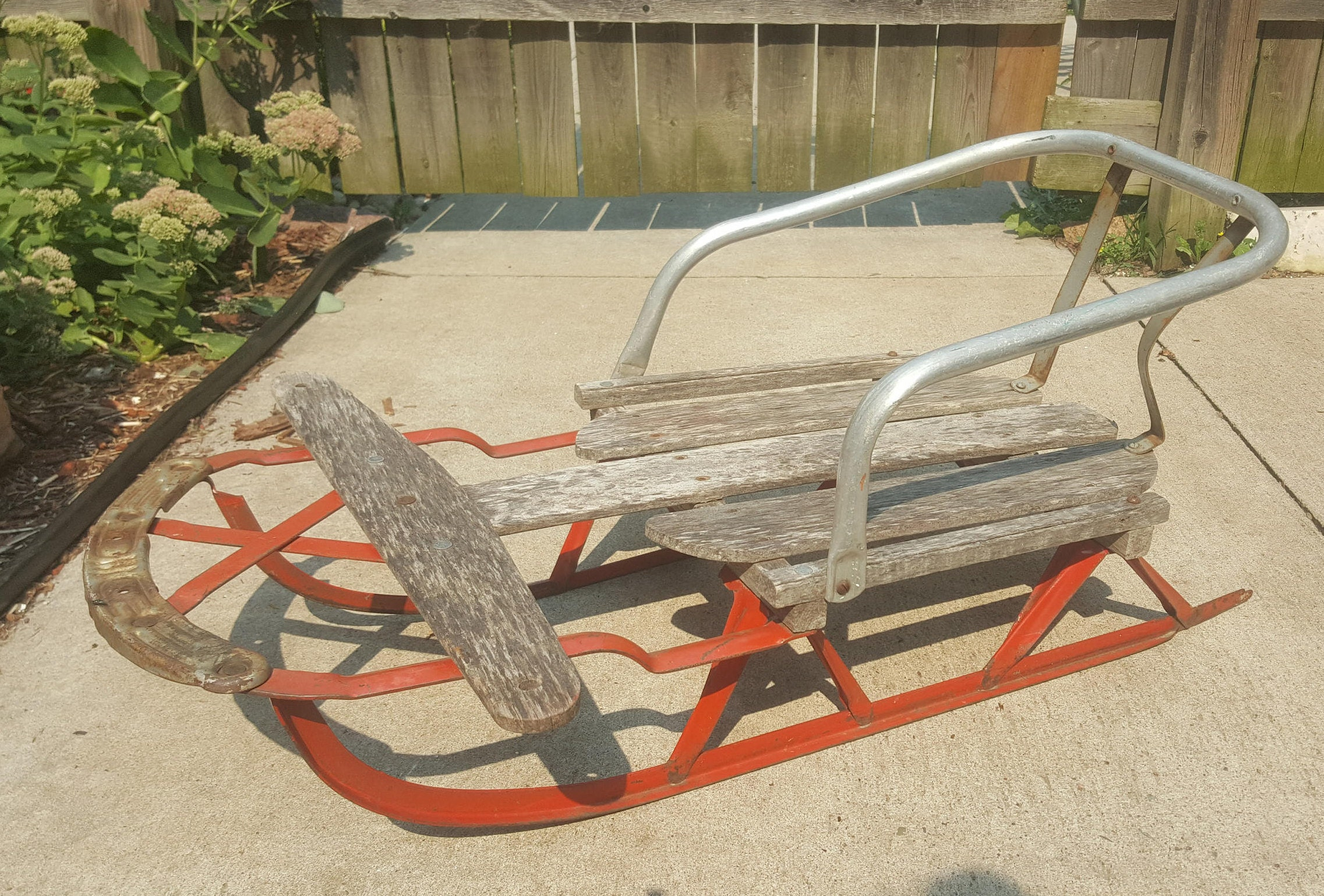 Old Runner Sled Antique Childs Snow Sled Antique Wooden Sleds Primitive Sleds Holiday Home Decor Collector Small Wooden Sled Rare