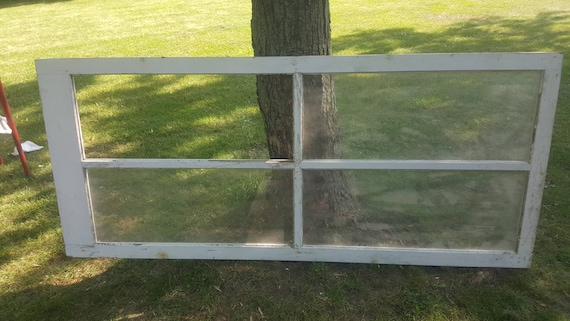 4 Pane Rustic Barn Redm Farmhouse Home Decor R11 Building Supply Wavy Glass Architectural Salvage Vintage Old Wood Window Frame