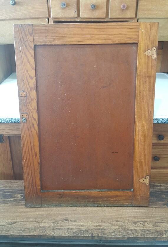 Craftsman Antique Wood Cabinet Door Vintage Schoolhouse Wooden Cupboard Door Architectural Salvage Doors Cabinet Building Supply