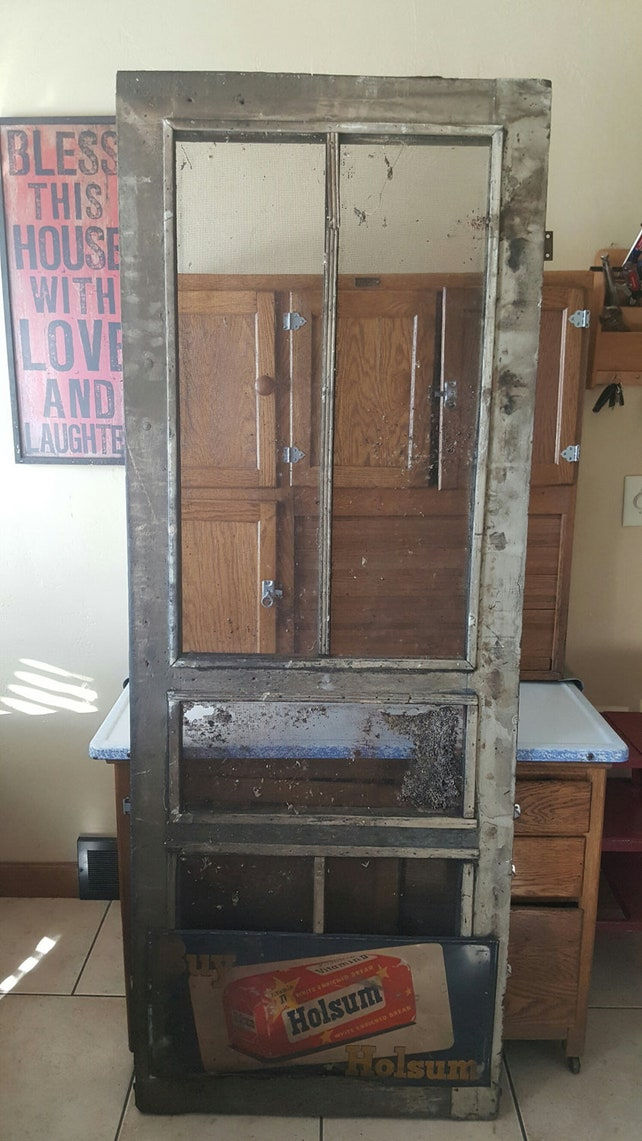 image 0 - Vintage Wood Screen Door Architectural Salvage Entry Etsy