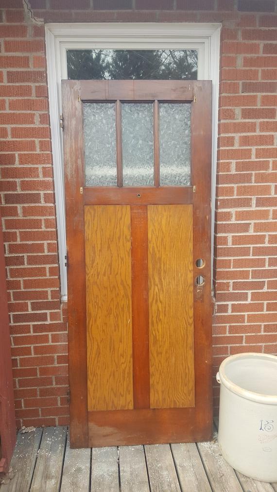 Antique Craftsman Exterior Wooden Door Exterior Front Door | Etsy