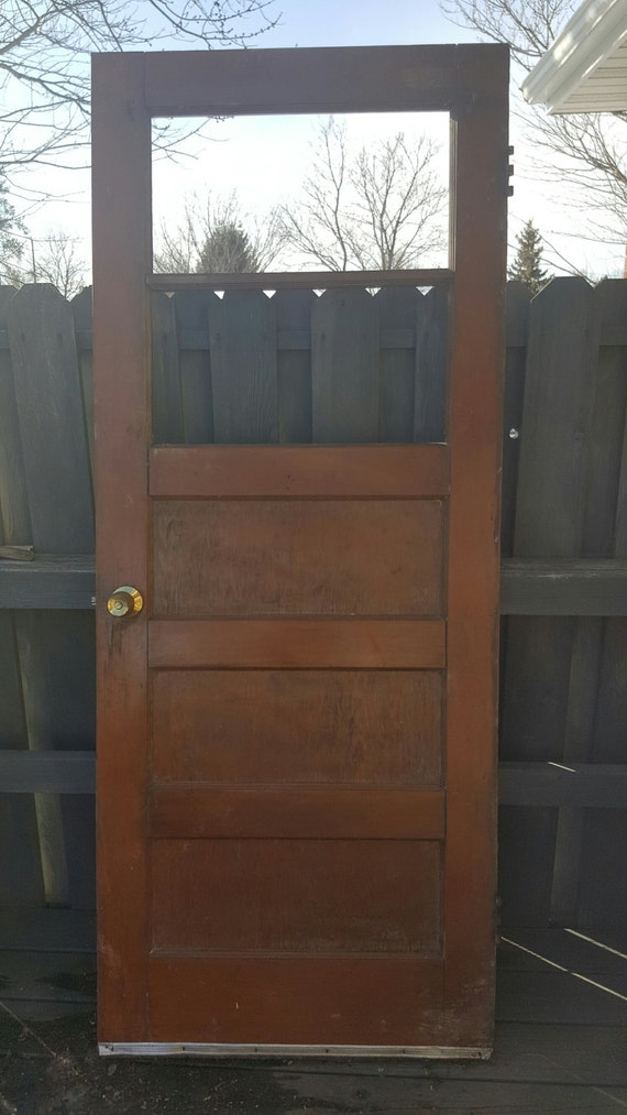 Vintage Wood Door Window Architectural Salvage, Pantry, Interior or on 30 x 80 ornate door, 32 inch mobile home door, 30 x 80 steel door, 30 x 80 exterior door, 35 x 79 door, 50 x 79 door, 9 lite door, 29 x 79 door, 36 x 79 door,