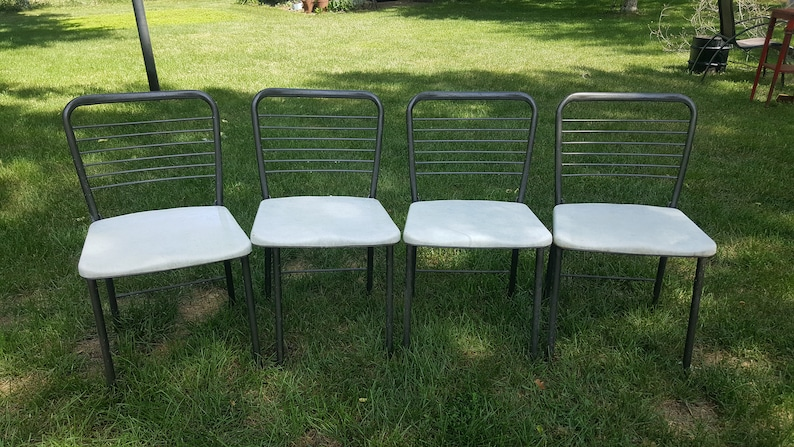 Phenomenal Vintage Folding Chairs Set Of 4 Dining Room Kitchen Metal Card Table Chairs Retro 1950S Wire Back Mid Century Modern Eames Era Cosco Evergreenethics Interior Chair Design Evergreenethicsorg