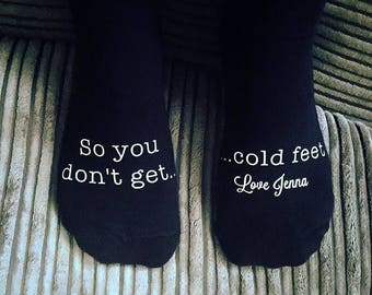 Personalised So you don't cold Feet Socks, Wedding Socks, Groom Socks, Funny Wedding socks