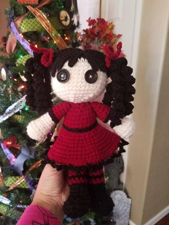 Goth Dollie - Amigurumi Pinup doll Crochet Pattern up on...   Facebook   760x570