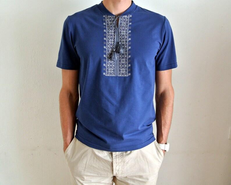 0e70a42590d High quality mens vyshyvanka t-shirt. Ukrainian embroidery.