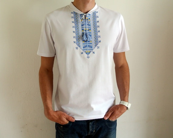Ukrainian embroidery mens vyshyvanka shirt Ukrainian gift Handmade embroidered dress shirt Made in Ukraine Ak3kUxV