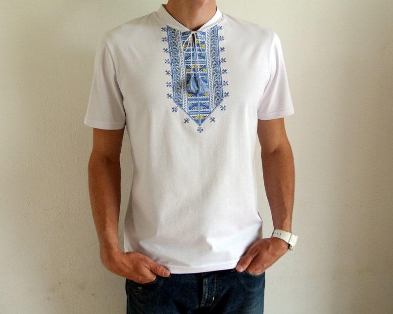 3e04f5eb8df High quality vyshyvanka mens t-shirts. Ukrainian embroidered