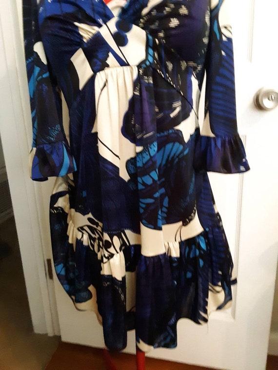 86d88fe8251 Betsy Johnson butterfly kimono sleeves baby doll dress