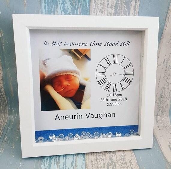 Personalised In This Momemt Time Stood Still Baby Girl Keepsake Print Nursery