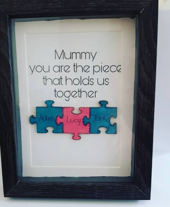 Puzzle Piece Family Frame Jigsaw Picture Frame My Family Etsy