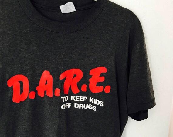 90s d.a.r.e. Tshirt distressed