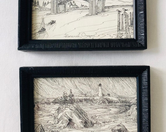 Vtg Little Oregon Landscapes Set