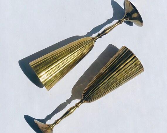 50s Brass Champagne Flutes ( Set 2)