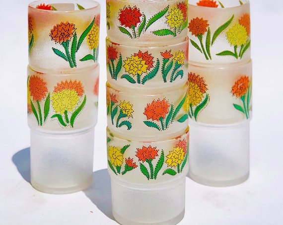 70s Poolside Stacking Cups 8ct