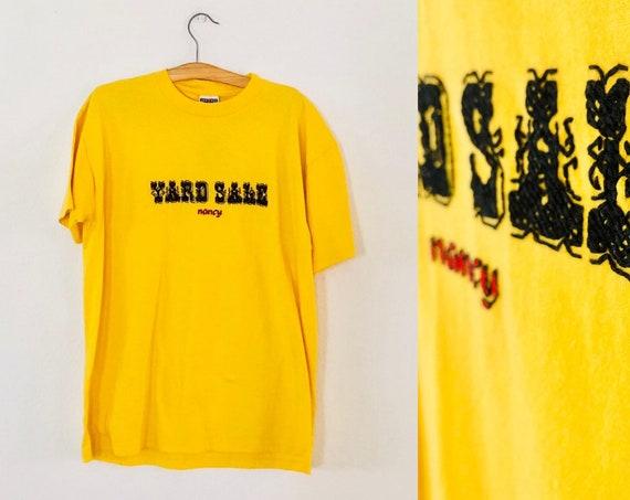 90s Yard Sale Nancy Chainstitch Tshirt XL