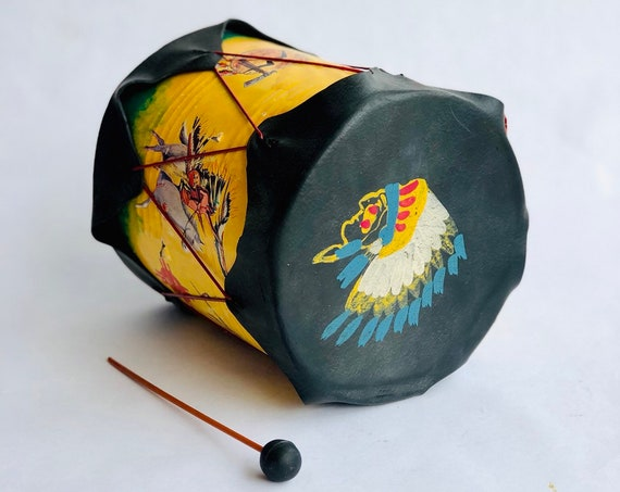 60s Native American Toy drum