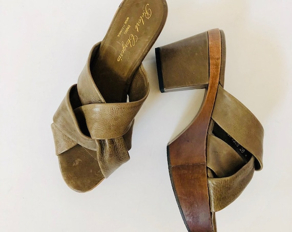 70s Robert Clergerie Chunky Platforms Size 7