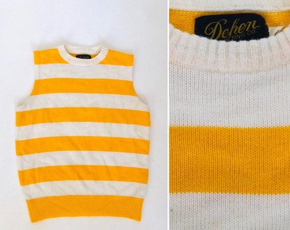 70s Dehen Strpied Sweater Vest