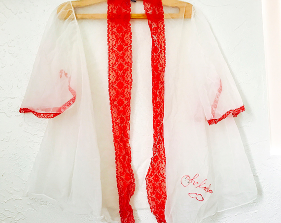 60s Ooh La La Embroidered Lingerie Cover