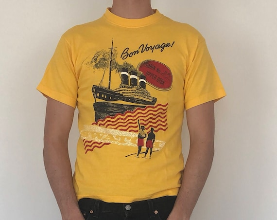 "Vintage Swatch Tee ""Bon Voyage"" ~ Medium"