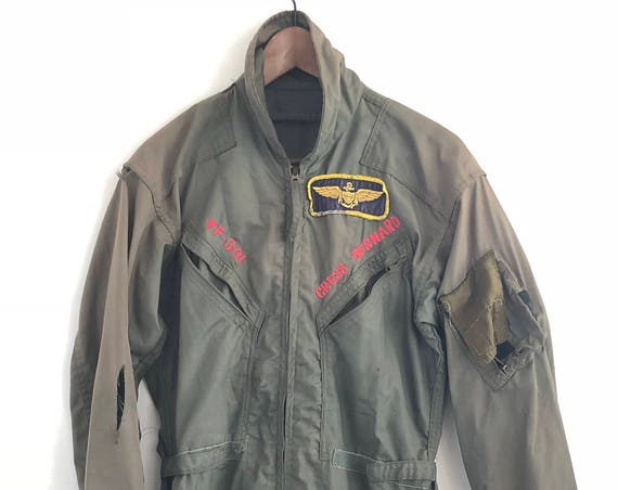 "80's Naval Flight Suit ~ ""Devils Disciples"" Squadron VF-301"