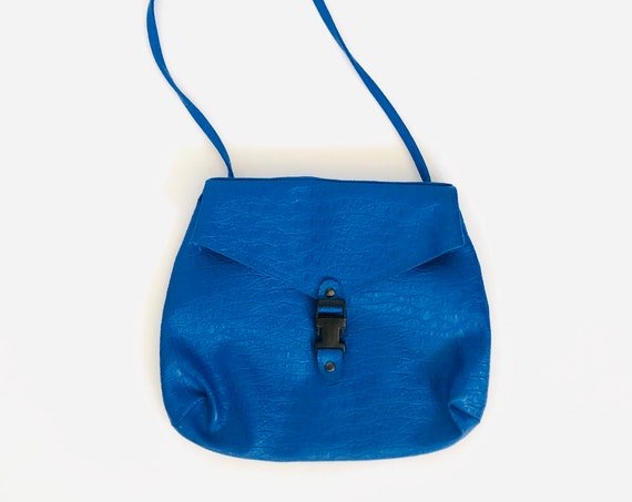 90s Buckled Blue Bag