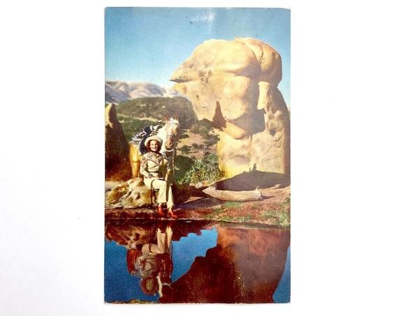 60s cowgirl postcard• unused•