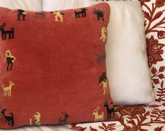 Vtg Moroccan Pillow • Large Euro•