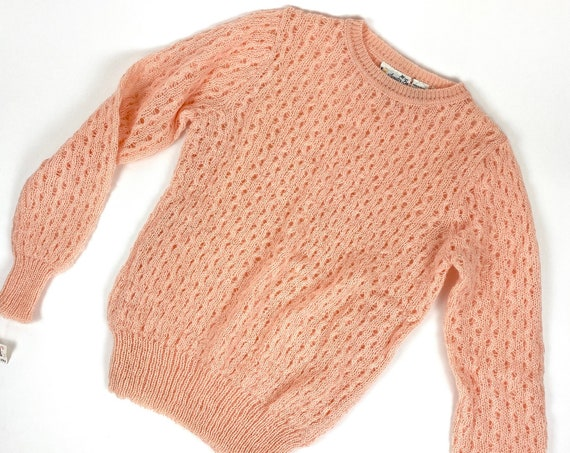 60s knit Pullover Sweater•small• deadstock