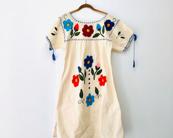 70s Huipil Dress •large•